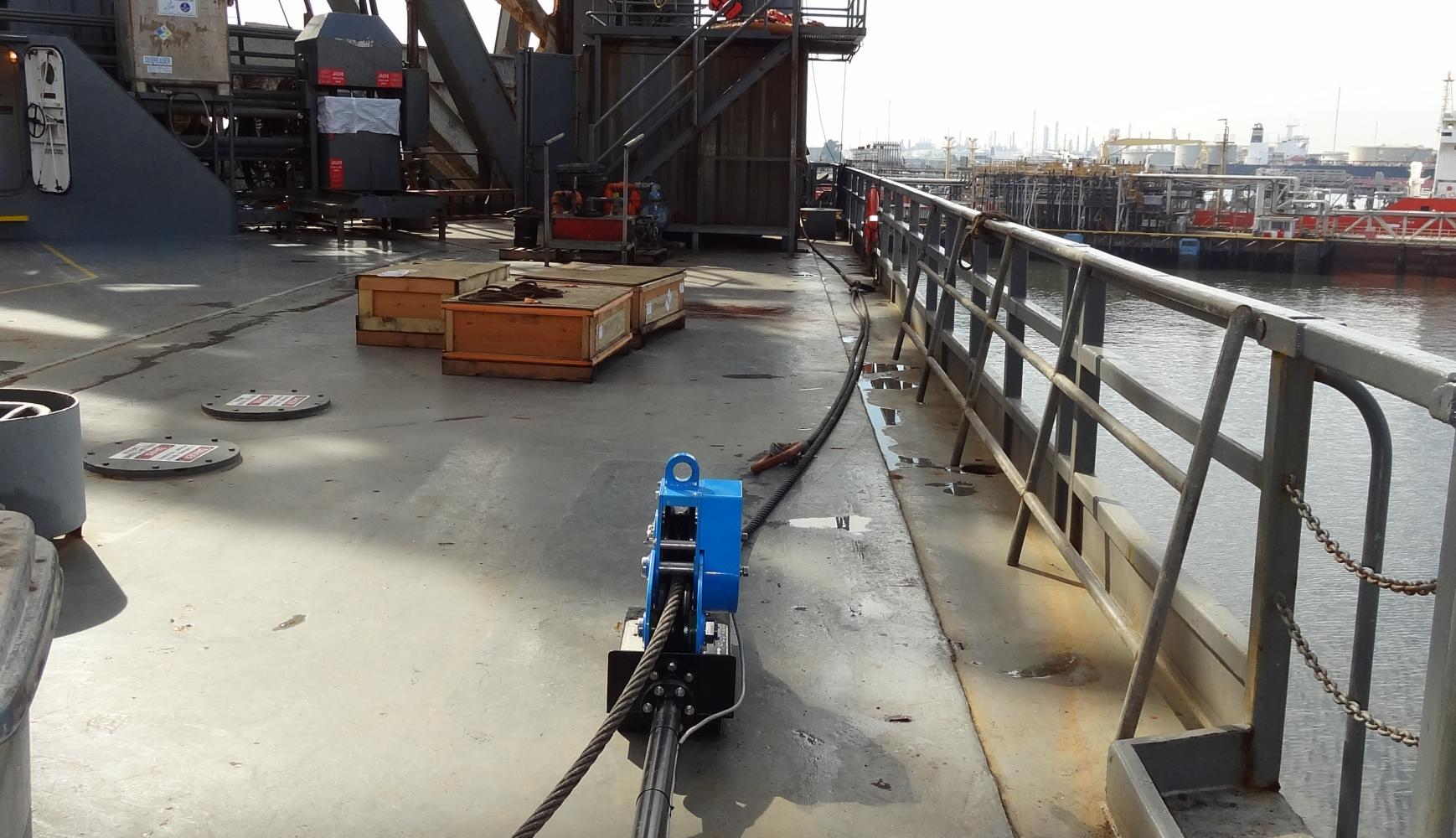 RL20 in Position, offshore mooring, cable tension, monitoring