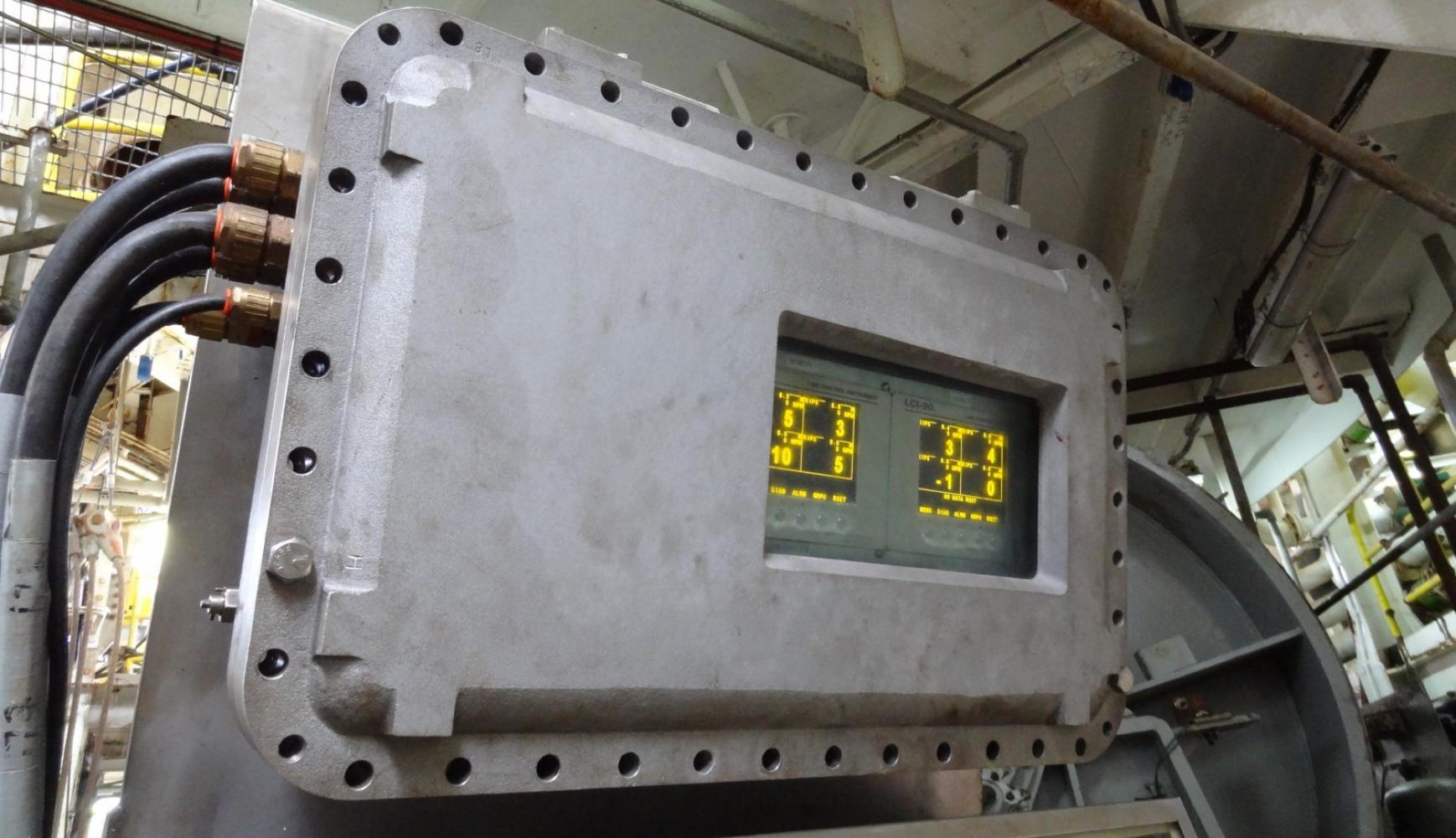 LCI-90 Display in Zone 2 Hazardous Environment, drill ship mooring