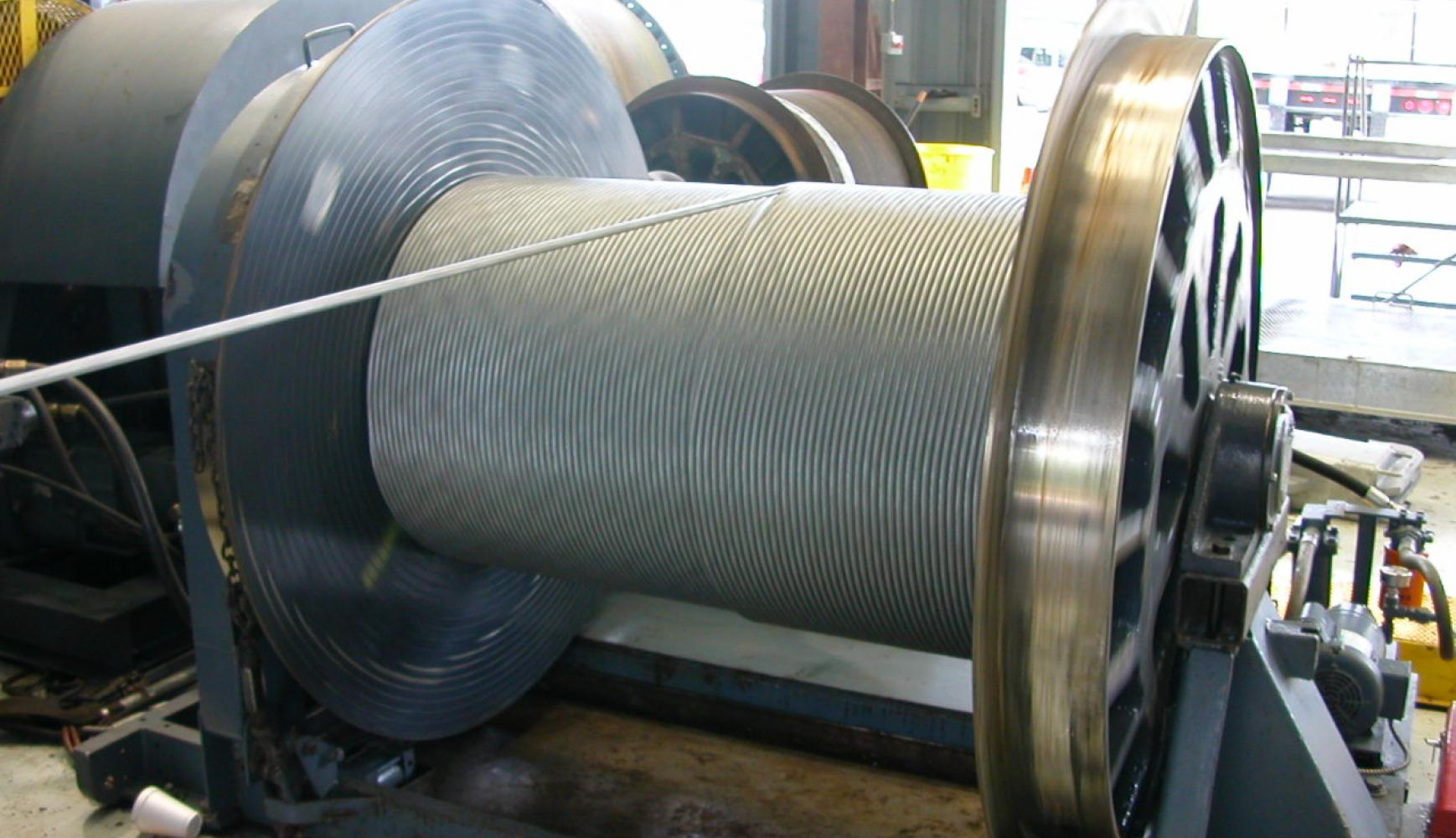 Spooling Winch, winch instrumentation, cable tension monitoring