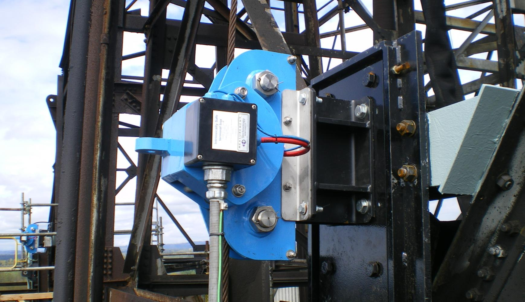 Decoking Winch Monitoring BP Cherry Point, tensiometer, display