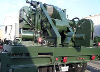 Deployment Truck, aerostat winch monitoring