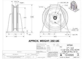 Utility Truck Sheave Assembly, custom tension instrumentation